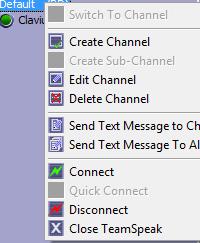 Editar un canal en TeamSpeak.